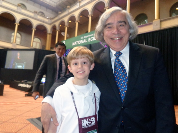 Griffin Koehn and Secretary of Energy Ernest Moniz