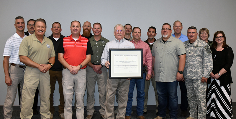 Pantex Safeguards & Security Team recognized by DOE