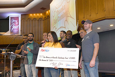 Pantex presents check to Step Up to Success