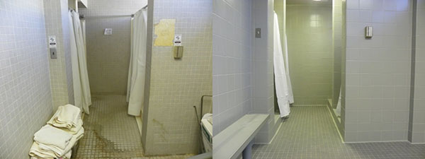 Men's Shower Before and After
