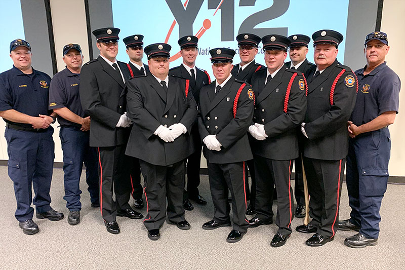Members of the Pantex Honor Guard visited Y-12 in June to train their fellow firefighters.