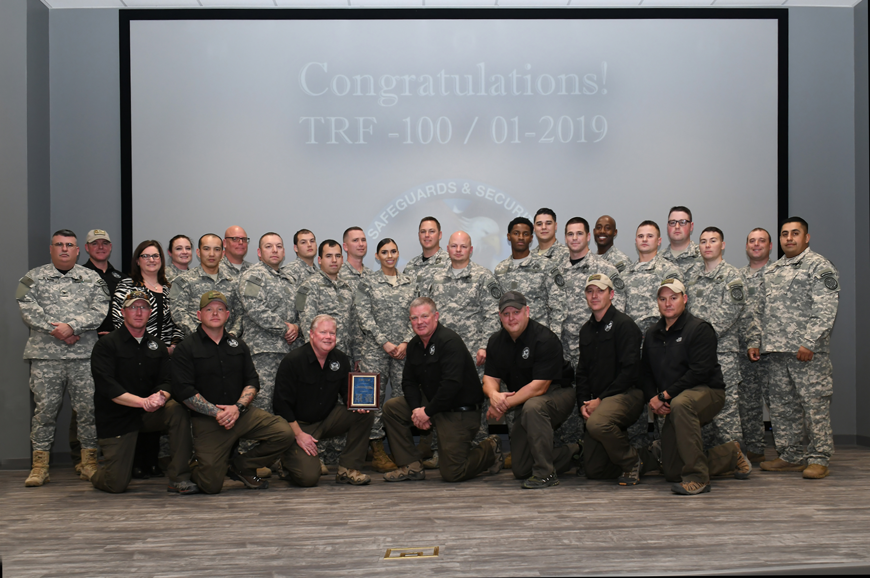 Graduates of Department of Energy National Training Center's Tactical Response Force I