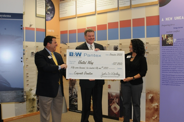 John Woolery  presents a B&W corporate donation