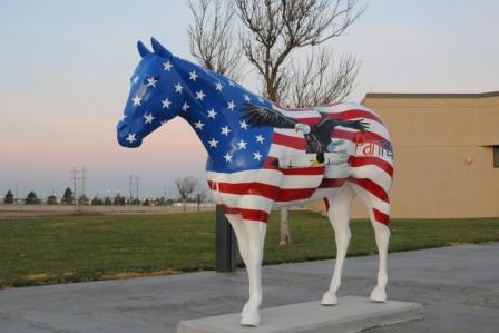 American Quarter Horse sculpture